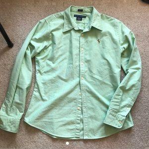 Ralph Lauren Button-down Green Shirt